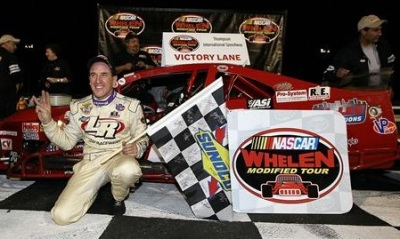 Ted Christopher in victory lane at Thompson.  (Jim McIsaac/Getty Images for NASCAR Photo)