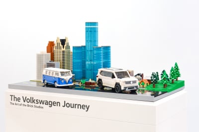 Volkswagen made from Legos.  (VW Photo)