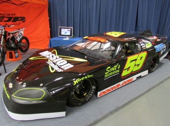 Reid Lapher's #59 Super Late Model in on the Oxford 250 entry list.  (Mike Twist Photo)