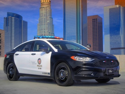 The Ford Police Responder Hybrid Sedan.  (Ford Motor Company Photo)