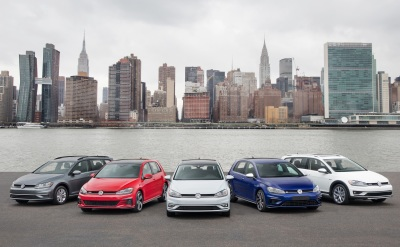 The 2018 Volksagen Golf family.  (Volkswagen Photo)