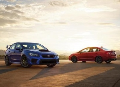 The 2018 Subaru WRX and STi models.  (Subaru of America Photos)