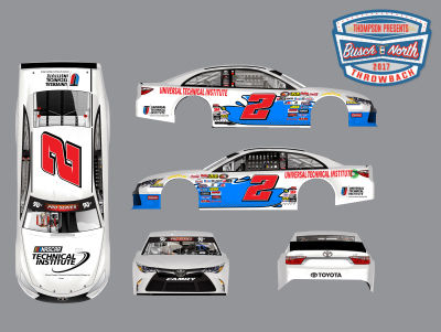 Collin Cabre's paint scheme for Thompson.  (Thompson Speedway Motorsports Park Image)