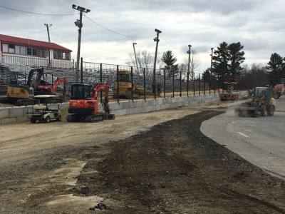 Construction has been underway this off-season at Wiscasset.  (Wiscasset Speedway Photo)