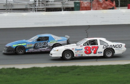 Street Stocks on track for the NESTS test day at New Hampshire Motor Speedway. (Mike Twist Photo)