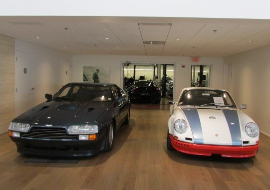 A few of the rare cars of the open house were in the showroom.  (Mike Twist Photo)