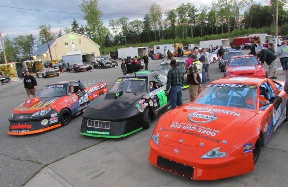 A few of the cars from the North East Mini Stock Tour.  (Mike Twist Photo)