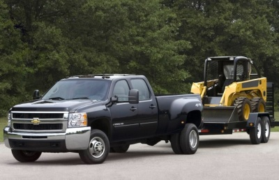 The 2007 Chevrolet 3500 Dually was available with a Duramax Diesel engine.  (GM Photo)