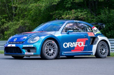 The Andretti Rallycross Volkswagen Beetle.  (Team Andretti Photo)