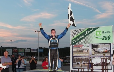 Joey Polewarczyk in victory lane after the 2012 Oxford 250.  (OPS Photo)