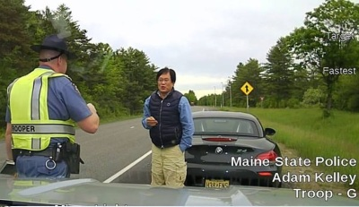 Sang Yook had a bad day in Maine after exercising his BMW Z4  (MSP Photo)