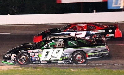 Jeremy Davis (#09) and Derek Griffith (#12G) race last year at Lee.  (PASS Photo)