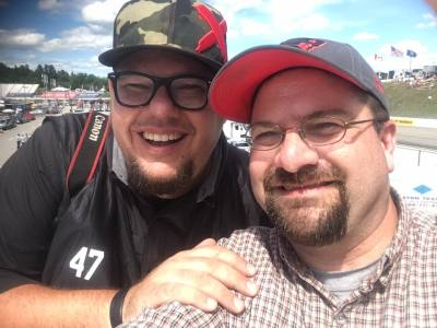 Matt Dillner (Left) is one of many friends who I have worked with in the infield of NHMS.