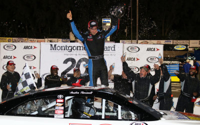 Austin Theriault spent a lot of time in victory lane this past year.  (ARCA Photo)