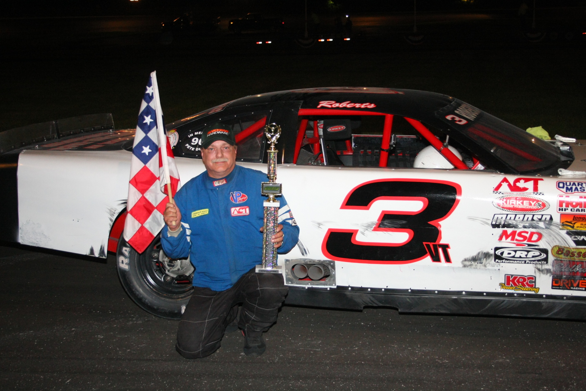 Ricky Roberts earned the Maplewood Triple Crown at Thunder Road. (Alan Ward Photo)