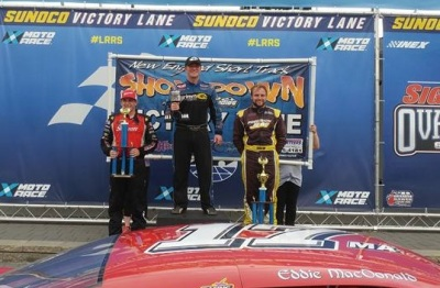 Eddie MacDonald in victory lane (again) at New Hampshire Motor Speedway.