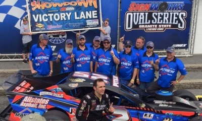 Woody Pitkat and his #52 team in victory lane.