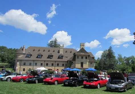 Miatas on the Lawn at the Larz Anderson Museum.  (Mike Twist Photo)