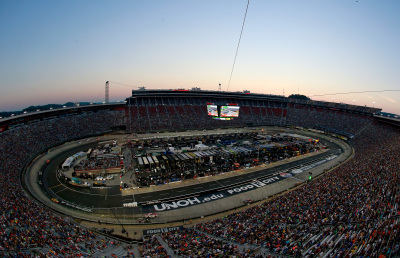 Bristol Motor Speedway under the lights.  (NASCAR Photo)