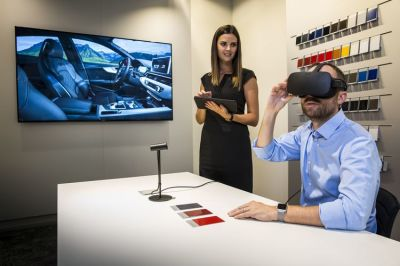 Car shoppers can make use of the VR experience starting in Europe.  (Audi Photo)
