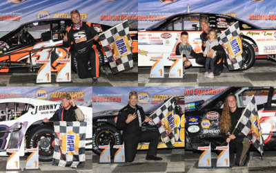 The September 15th winners at Stafford.  (SMS Photo)