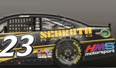 The #23 SCHROTH Racing Toyota.  (BK Racing Rendering)