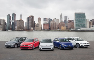 The current lineup of VW Golf models.  (VW Photo)