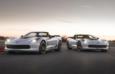 The 2018 Corvette Carbon 65 Edition Coupe and Convertible.  (GM Photo)