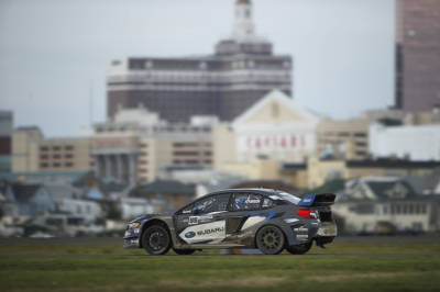Red Bull Rallycross action from 2017 in Atlantic City.  (Red Bull Photo)