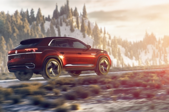 The five passenger VW Atlas (VW Photo)