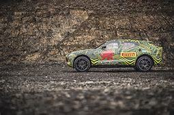 The Aston Martin DBX SUV in testing.  (Aston Martin Photo)